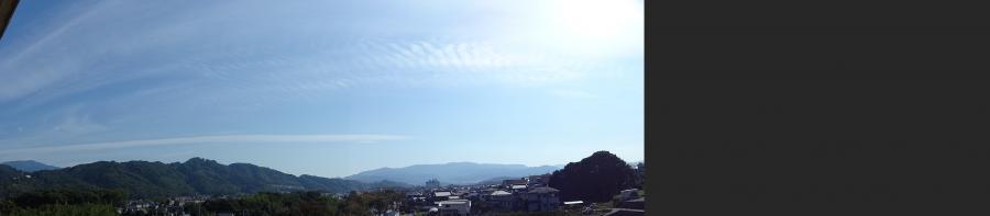 地震雲?パノラマで