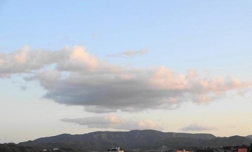 夕陽に染まる?雲