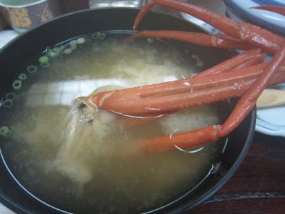 蟹のお味噌汁