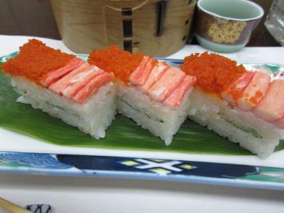 蟹のお寿司