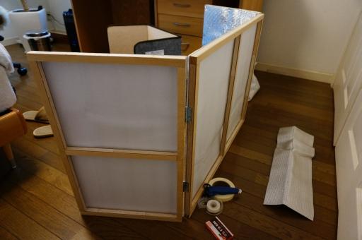 足もと暖房 補助器具 自作