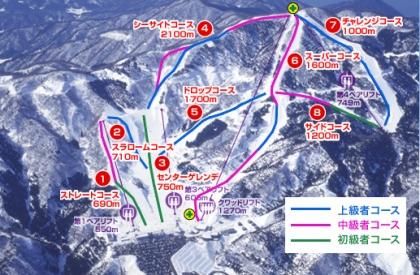 今庄365スキー場ゲレンデマップ