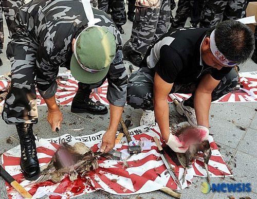 韓国 デモ