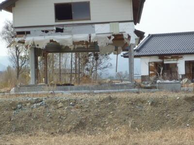 津波被害の家屋