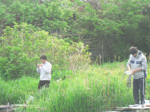2人の釣り人。