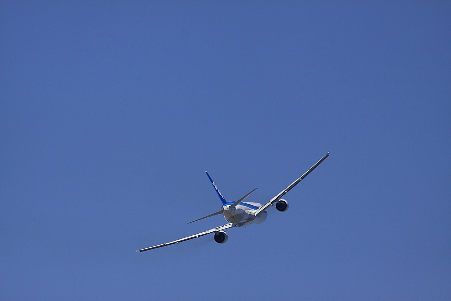 ANA B777-381 ANA20@下河原緑地展望デッキ(by EOS 50D with SIGMA APO 300mm F2.8 EX DG/HSM)