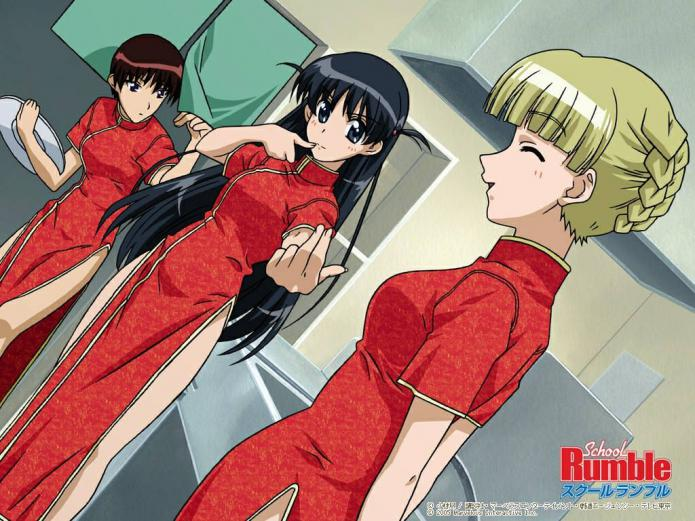 yande.re 128852 chinadress sara_adiemus school_rumble takano_akira tsukamoto_tenma waitress wallpaper