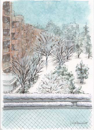 雪景色深沢ハウス