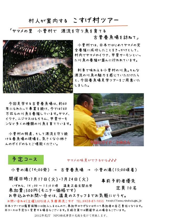 村ツアーチラシ(養魚場)