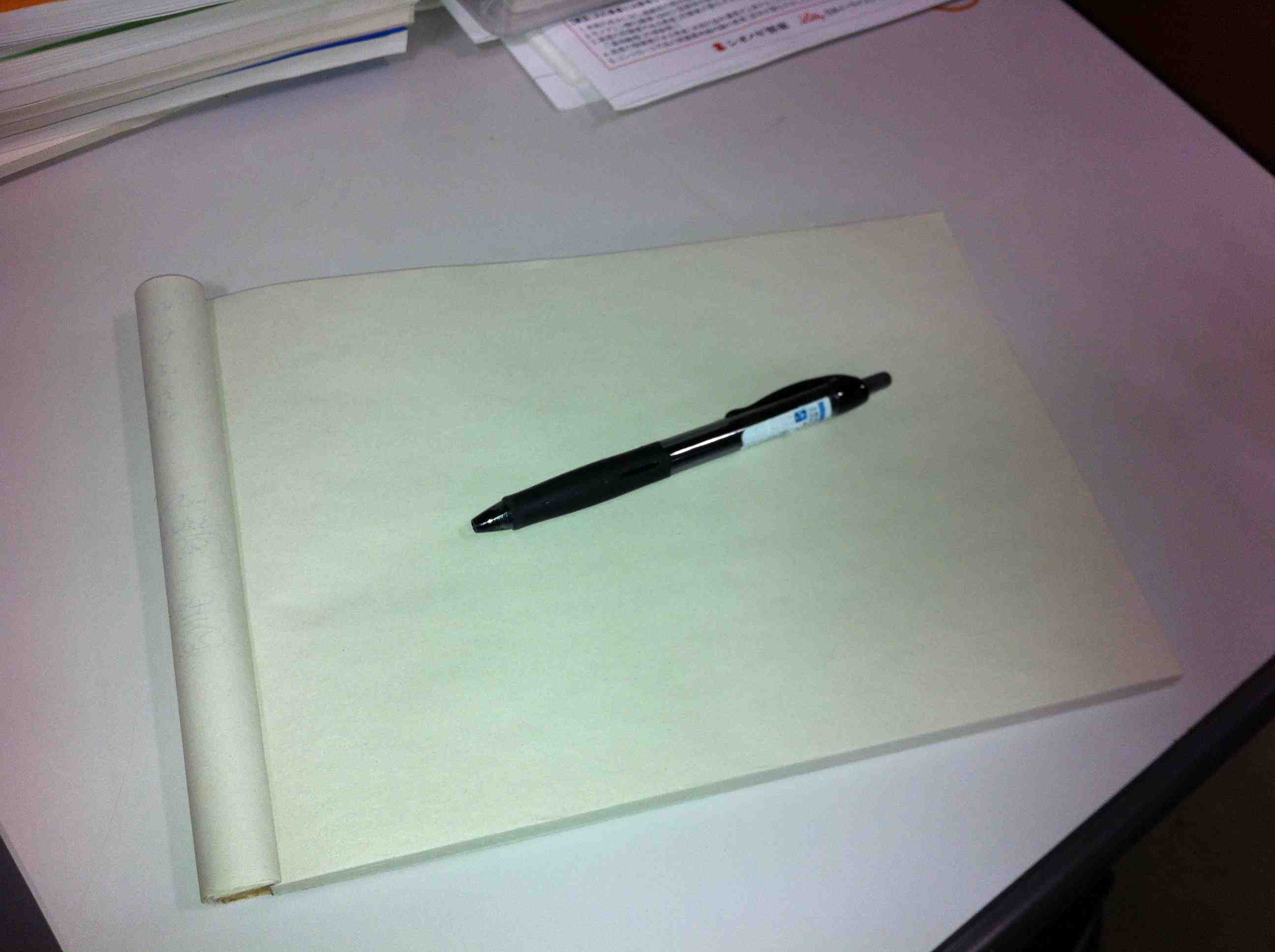 ペンとらくがき帳