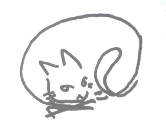 へのへのもへじ猫06