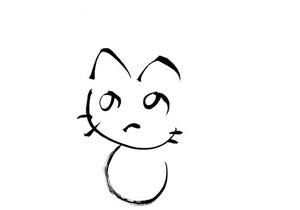 へのへのもへじ猫02