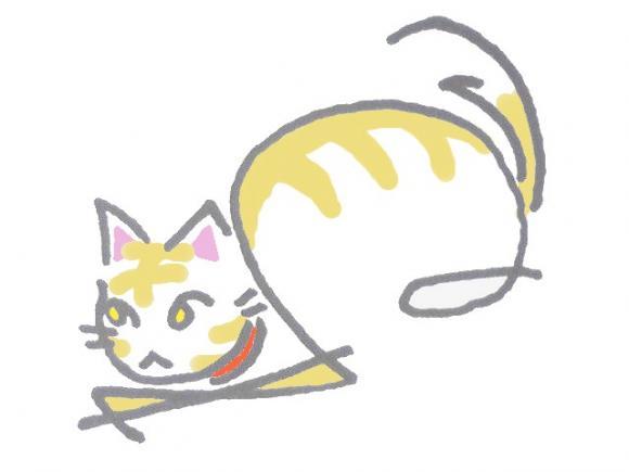 へのへのもへじ猫03