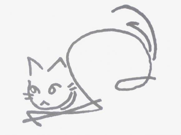へのへのもへじ猫07