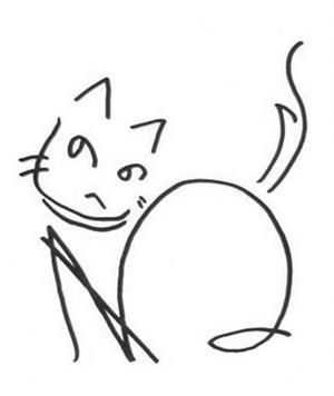 へのへのもへじ猫08