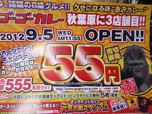 ゴーゴーカレー秋葉原スタジアム店55円001