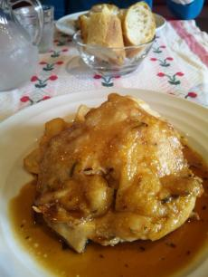 メインの鶏肉料理