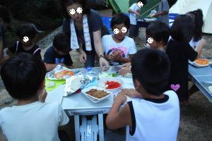 子供たちとピザ作り