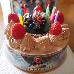 チョコクリームのケーキ