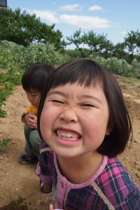 まこちゃんのクチャ顔。笑