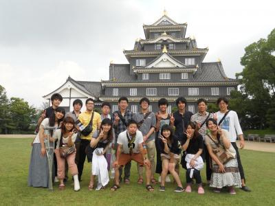 こっちが岡山城まえ