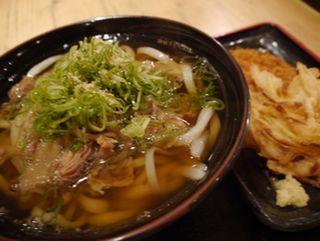 肉うどん(中)@水道橋麺通団(水道橋) (2)