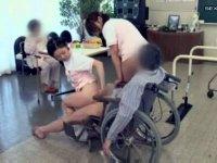 某老人介護施設で行われている男性利用者たちのリハビリ風景!