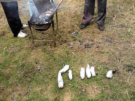 2012焼き芋アルミホイル