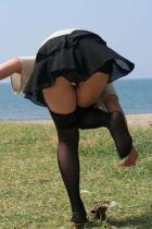 OLパンチラお姉さんミニスカ制服で着エロ下着に挿入エロ画像