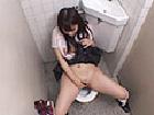 盗撮 放課後の学校のトイレでオナニーしてる女子校生