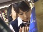 【痴漢】図書館で突然変態サラリーマンに痴漢され、恐怖で固まってしまい犯されてしまう女子校生!