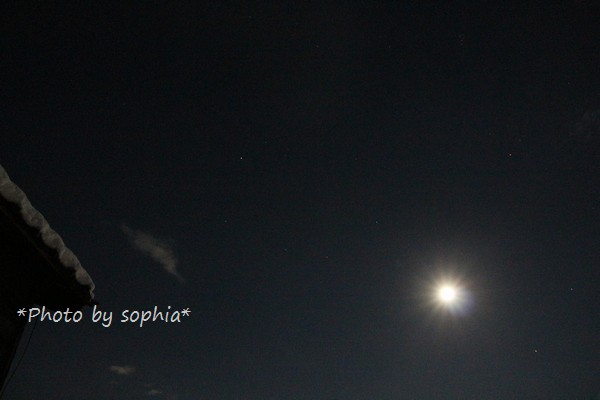 2014年12月7日の夜空