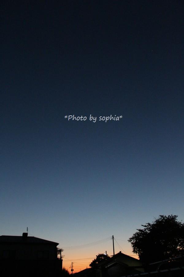 2014年10月12日朝5時20分の空