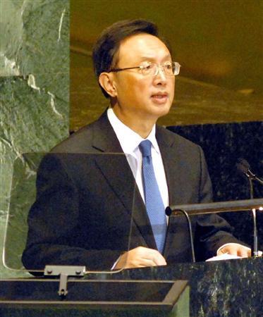 ::::::国連総会の一般討論で演説する中国の楊外相