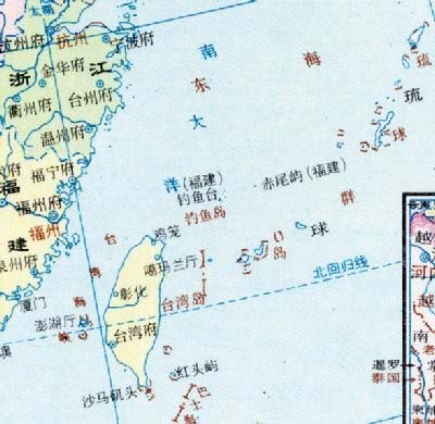 ::::::尖閣の地図
