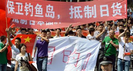 ::::::デモや不買運動など反日姿勢を強める中国。