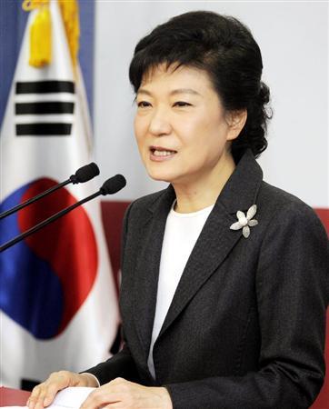 ◇◇◇記者会見する韓国大統領選 朴槿恵氏