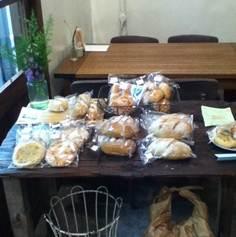 お店で販売してるパン