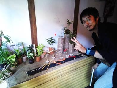 長屋 竹細工や盆栽