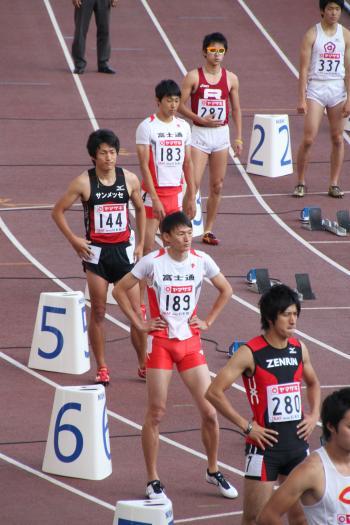 男子200m走