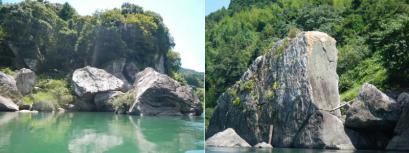 色んな形の大きな岩がいっぱい
