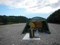 本日は加田キャンプ場をキャンプ地とする