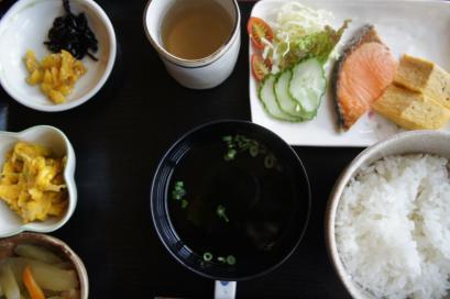 2日目の朝定食500円