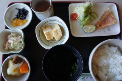 1日目の朝定食500円