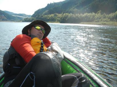 天気も良くて、川の上が気持ちいい♪