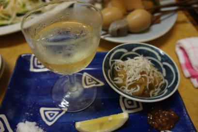 カツオは白ワインといただきます