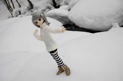 雪河原にて2