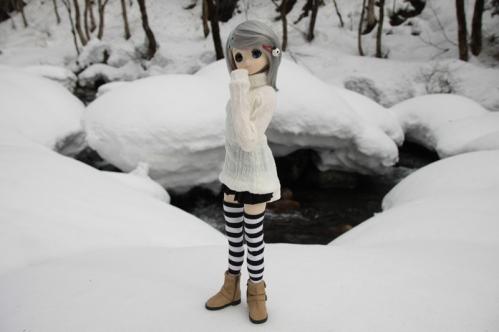 雪河原にて5