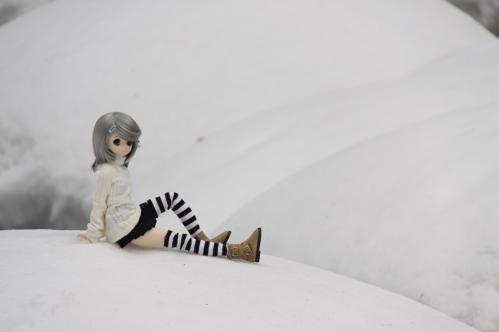 雪河原にて7