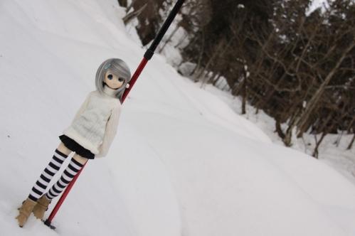 雪河原にて11